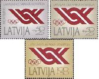 Национальный олимпийский комитет Латвии, 3м; 50+25, 50+25, 100+50 коп -