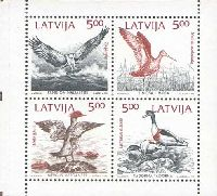 Mare Balticum, Птицы, 4м; 4 x 5.00 Латв. руб
