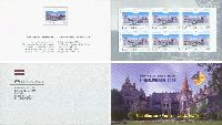 Дворец в Цесвайне, разновидность зубцовки, буклет из 6м; 40c x 6
