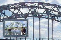 Мосты Латвии, блок; 100c