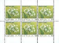 Охраняемые растения, трехсторонняя зубцовка, М/Л из 6м; 30c x 6