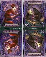 Фауна, Хорёк и Бобёр, тет-беш, 4м; 45, 55с x 2
