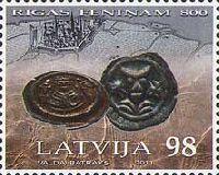 800-летие Рижскому пфеннигу, 1м; 98с