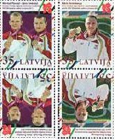 Спортсмены Латвии - призеры Олимпиады в Лондоне'12, тет-беши, 4м; 35c х 4