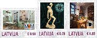 Персональные марки, Музеи, 3м; 0.50, 0.78, 0.85 Евро