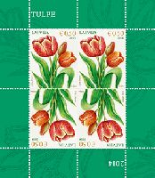 Флора, Тюльпаны, М/Л из 4м; 0.50 Евро x 4