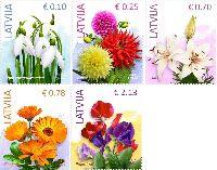 Стандарты, Цветы, 5м; 0.10, 0.25. 0.70, 0.78, 2.13 Евро