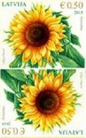Флора, Подсолнух, тет-беш, 2м; 0.50 Евро x 2