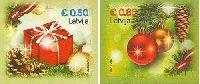 Рождество'15, самоклейки, 2м; 0.50, 0.85 Евро