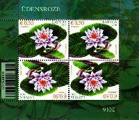 Флора, Кувшинка, М/Л из 4м; 0.50 Евро x 4