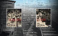 Депортация 1941, блок из 2м; 0.50 Евро х 2