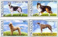 Фауна, Собаки, 4м; 0.40, 0.60, 2.0, 6.20 Лей