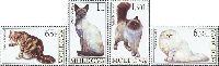 Фауна, Кошки; 4м; 0.65, 1.0, 1.50, 6.20 Лей