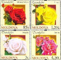 Флора, Розы, 4м; 0.85, 1.20, 3.0, 4.20 Лей