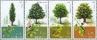 Флора, Деревья, 4м; 1.20, 1.75, 5.0, 5.75 Лей