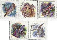 Фауна, Морские животные, 5м; 50, 60, 90, 100, 250 руб