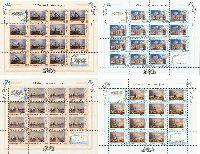 Живопись, Флот, 4 Листа из 14 серий и 4 купонов