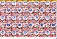 Перепись населения России, самоклейкa, Лист из 25м и 25 купонов; 3.0 руб x 25