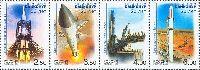 50 лет космодрому Байконур, 4м в сцепке; 2.50, 3.50, 4.0, 6.0 руб