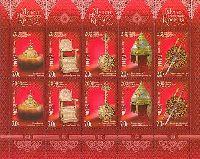 Сокровища музеев московского Кремля, М/Л из 10м; 20.0 руб х 10