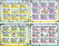Велосипеды, 4 М/Л из 8 серий и купона