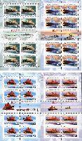 50 лет атомному ледокольному флоту России, 4 М/Л из 8 серий и 2 купонов