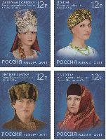 Традиционные головные уборы русского Севера, 4м; 12.0 руб x 4