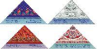 Декоративно-прикладное искусство. Платки, треугольные 4м; 15.0 руб x 4