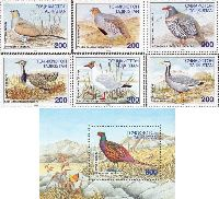 Фауна, Птицы, 6м + блок; 200 руб х 6, 600 руб