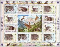 WWF, Дикие кошки, М/Л из 12м и купона; 100, 150 руб x 6
