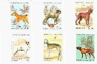 Фауна, Собаки, 6м беззубцовые; 0.20, 0.55, 0.75, 1.0, 2.0, 3.0 C
