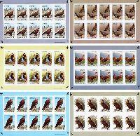 Фауна, Птицы Азии, беззубцовые, 6 М/Л из 10 серий