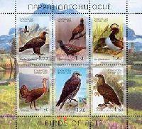 Фауна, Птицы Азии, М/Л из 6м; 1.0, 1.10, 1.20, 1.30, 1.40, 1.60 C