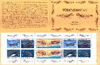WWF, Тюлени, буклет из 10м; 15, 25, 50, 100, 150, 500 M x 2
