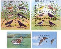 Фауна, Птицы, 2 блокa + 2 М/Л из 6м; 3000 M x 12, 5000 M x 2