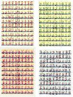 """Стандарты, Фельдмаршал А.В.Суворов, 4 листа из 100м; """"И"""" x 280, """"K"""" x 36, """"A"""" x 84"""