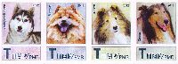 "Фауна, Собаки, самоклейки, 4м в сцепке; ""Т"" х 4"
