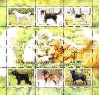 "Фауна, Собаки, блок из 6м; ""K"" x 3, ""А"", ""В"", ""Т"""