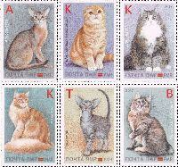 """Фауна, Кошки, 6м; """"K"""" x 3, """"А"""", """"В"""", """"Т"""""""