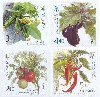 Флора, Овощи, самоклейки, 4м; 2.40, 3.0, 4.40, 5.40 Гр