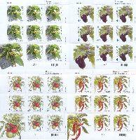 Флора, Овощи, самоклейки, 4 М/Л из 8 серий и купона