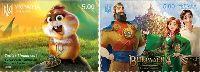 Ukrainian animated cartoons, selfadhesives, 2v; 5.0 Hr х 2