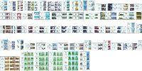 10 Годовщина суверенитета, 98м + 68 купонов + 2 блока + М/Л из 6м и 3 купонов + 2 М/Л из 8м и купона + М/Л из 11м и купона; 60.0 х 6, 70.0 х 3, 75.0 x 5, 80.0 x 11, 90.0 x 30, 95.0 x 12, 115.0 x 31, 125.0 x 7, 160.0 x 25, 85.0, 100.0, 175.0 Сум