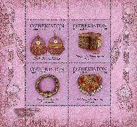 Женские украшения, блок из 4м; 1400, 1500 Сум х 2